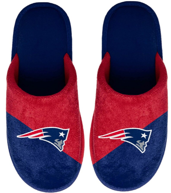 New England Patriots Big Logo Scuff Slippers