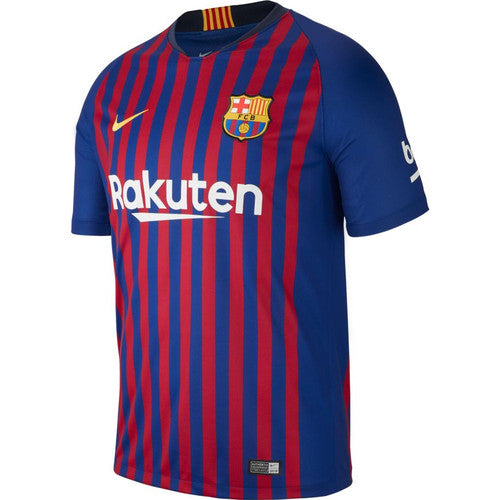 Nike Breathe FC Barcelona 18-19 Stadium Home Youth Jersey Jr