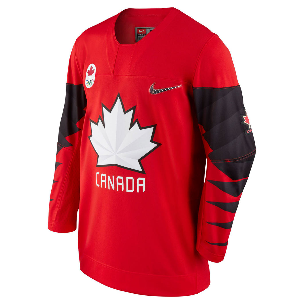 Nike Team Canada Nike 2018 Olympic Red Hockey Jersey