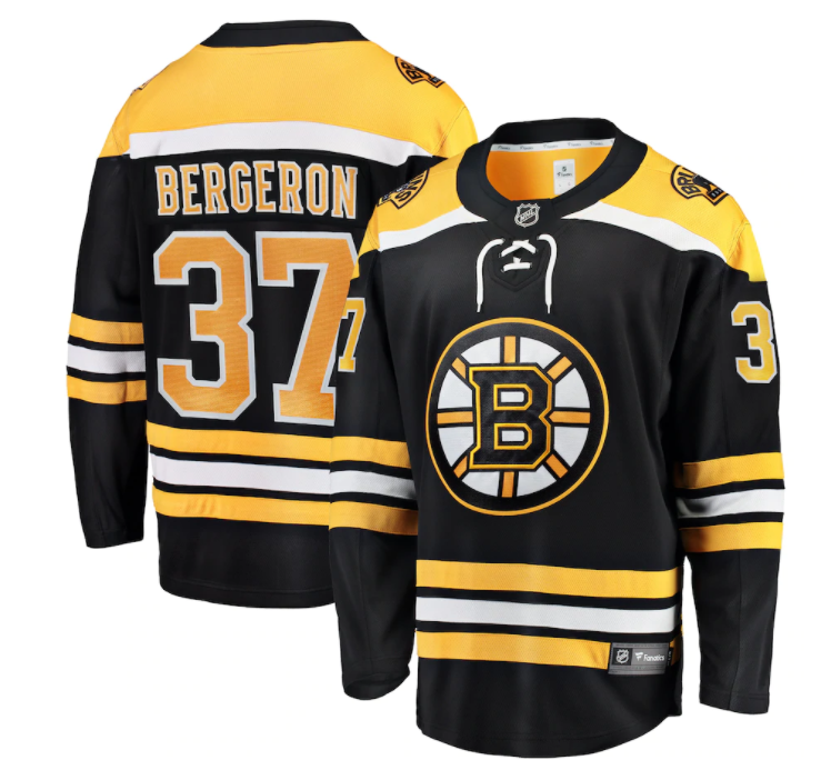 Patrice Bergeron Boston Bruins Fanatics Branded Breakaway Player Jersey - Black