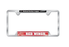 Load image into Gallery viewer, NHL Chrome Plated Team Lisence Plate Frame