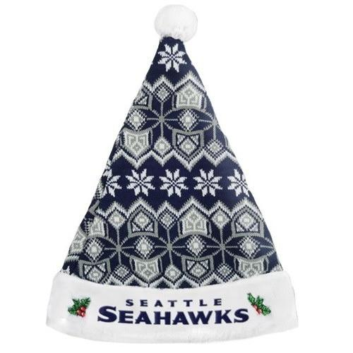 Seattle Seahawks Christmas Holiday Hat