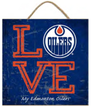 Load image into Gallery viewer, NHL 'Love My Team'  10x10 Square Wood Sign