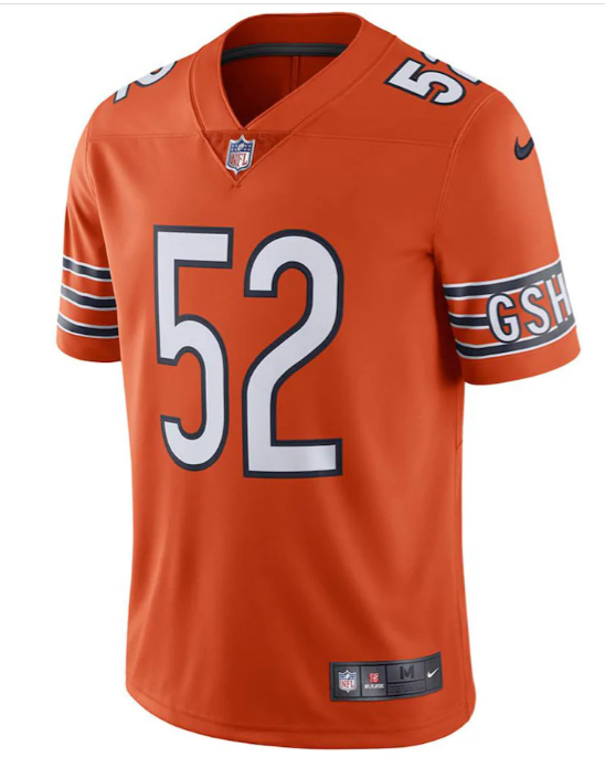 Khalil Mack Nike Orange Chicago Bears Vapor Untouchable -Game Jersey