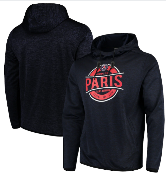 Paris Saint-Germain Levelwear Lacer Advantage Pullover Hoodie - Heathered Navy