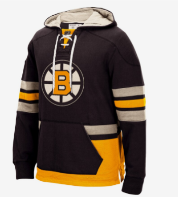 BOSTON BRUINS CCM MEN'S PULLOVER HOODIE BLACK