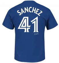 Load image into Gallery viewer, Toronto Blue Jays Sanchez MLB Player Name & Number T-Shirt - Majestic