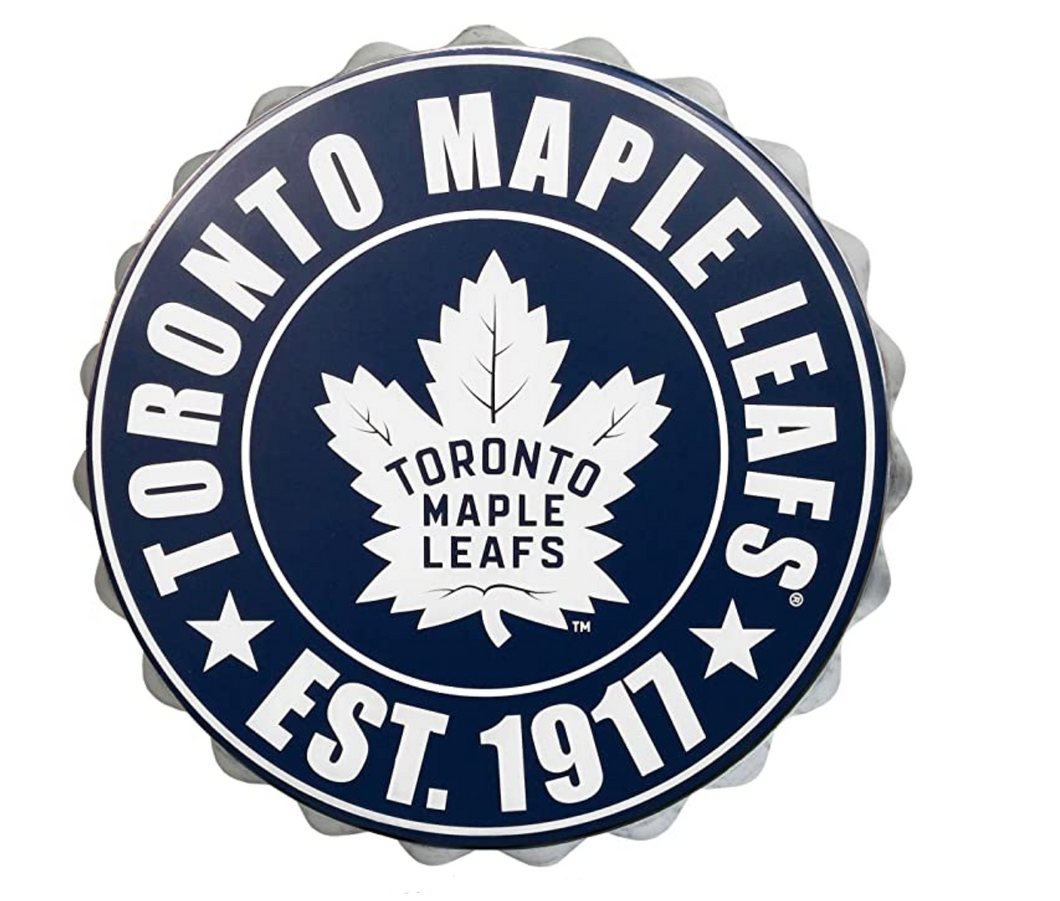 Toronto Maple Leafs Bottle Cap Wall Sign