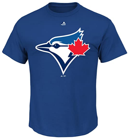 Toronto Blue Jays Majestic MLB Official Logo Men's Short Sleeve T-Shirt