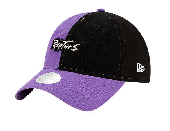 Toronto Raptors New Era Women's Hardwood Classics Split 9TWENTY Cap