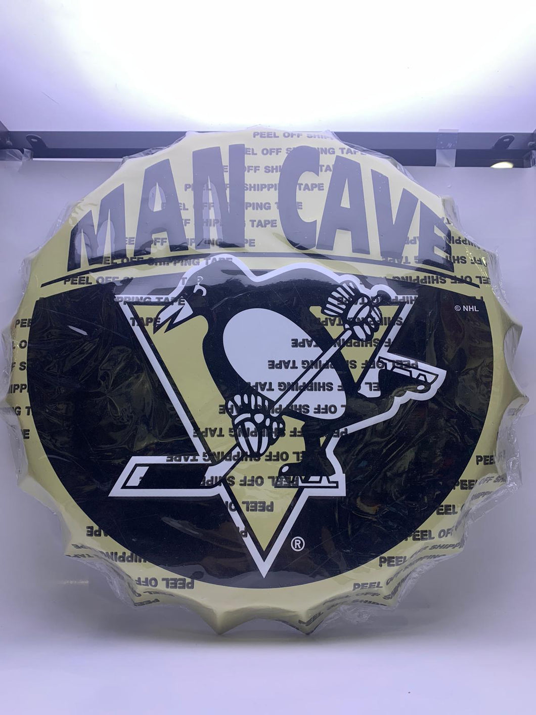 Pittsburgh Penguins Man Cave Bottle Cap Wall Sign