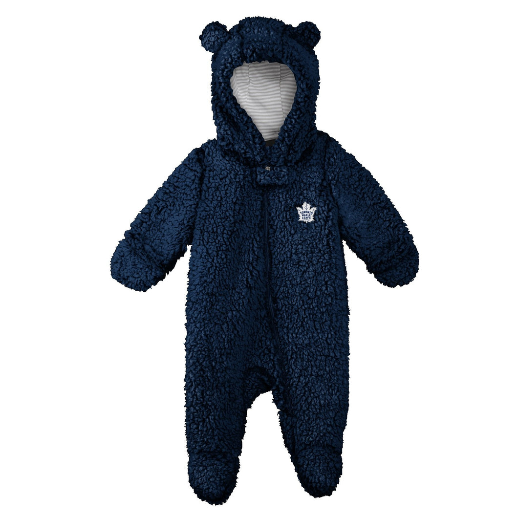 Infant Toronto Maple Leafs Game Nap Teddy Bear Fleece