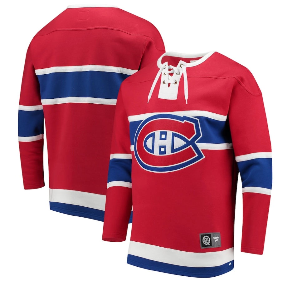 Men's Montreal Canadiens Fanatics Branded Red Franchise Pullover - Sweatshirt