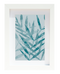 Blue Leaves Art Print