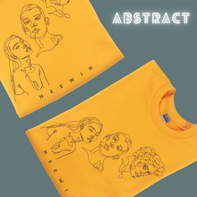 Load image into Gallery viewer, Abstract Faces Golden Sweatshirt