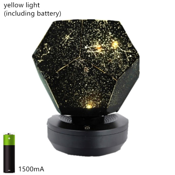 Galaxy projector lamp home planetarium led starry sky lights table Decoration bedroom battery powered constellation DIY usb gift