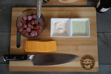 Load image into Gallery viewer, Baby Green Alien Bamboo Charcuterie board | Decor