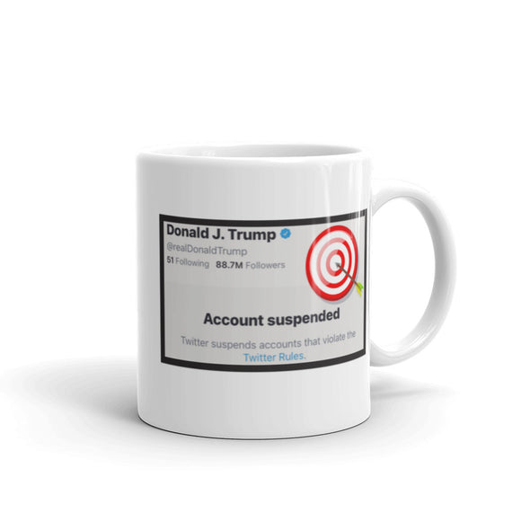 Donald Trump Account Suspended Mug