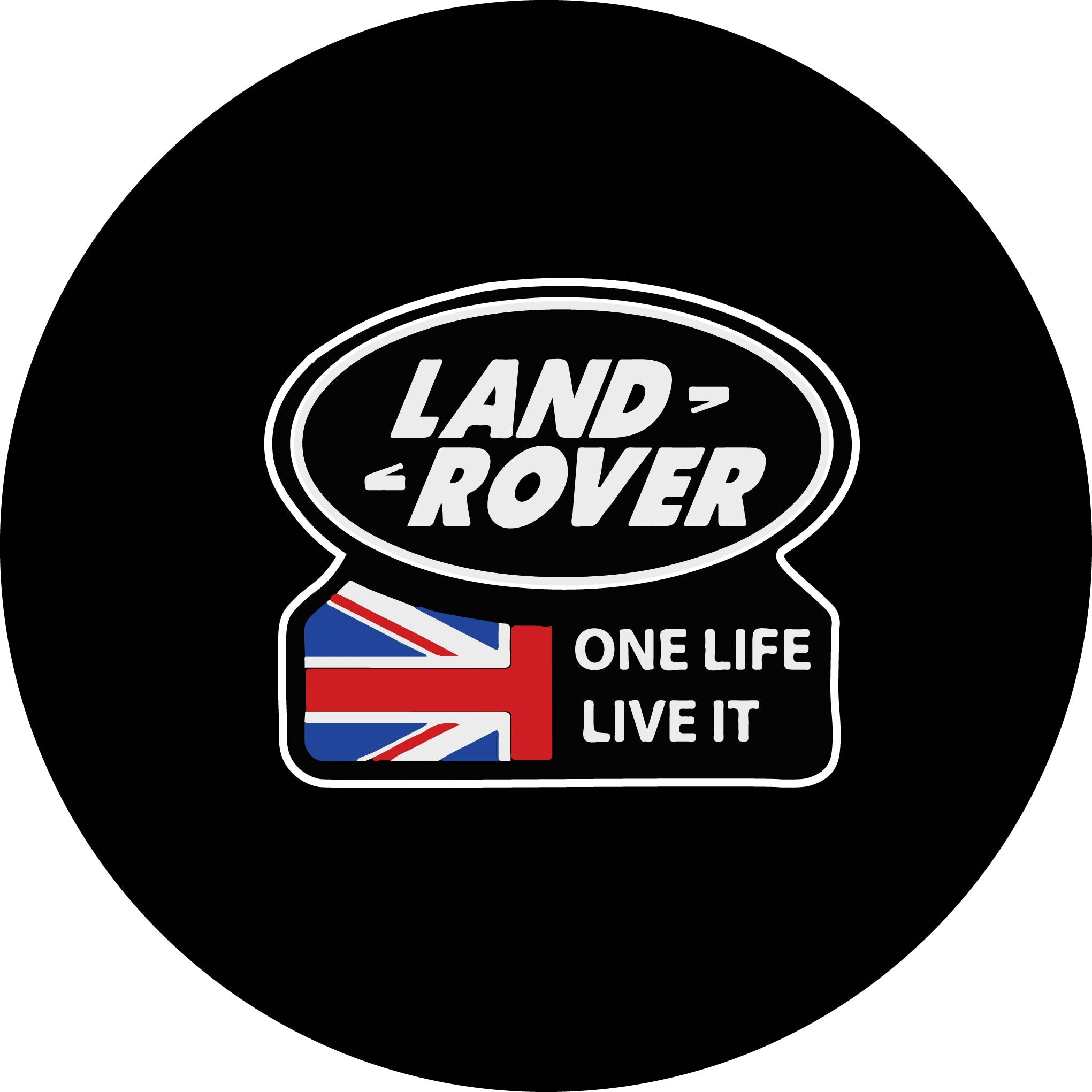 One Life, Live It Yazılı Land Rover Stepne Kılıfı