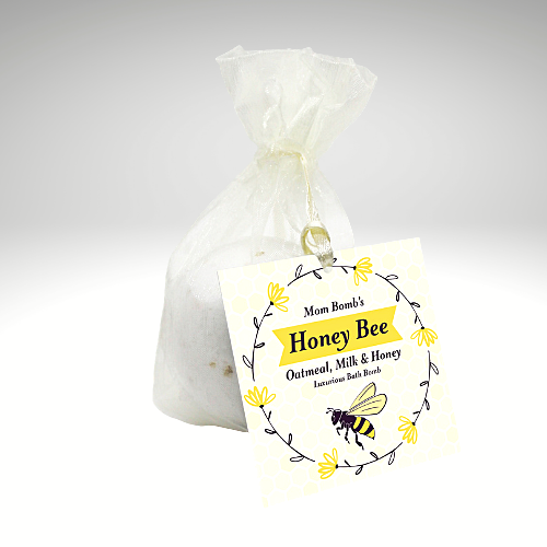 """Honey Bee"" Bath Bomb Single"