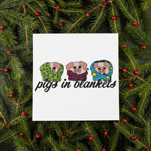 Load image into Gallery viewer, Pigs in Blankets Christmas Card