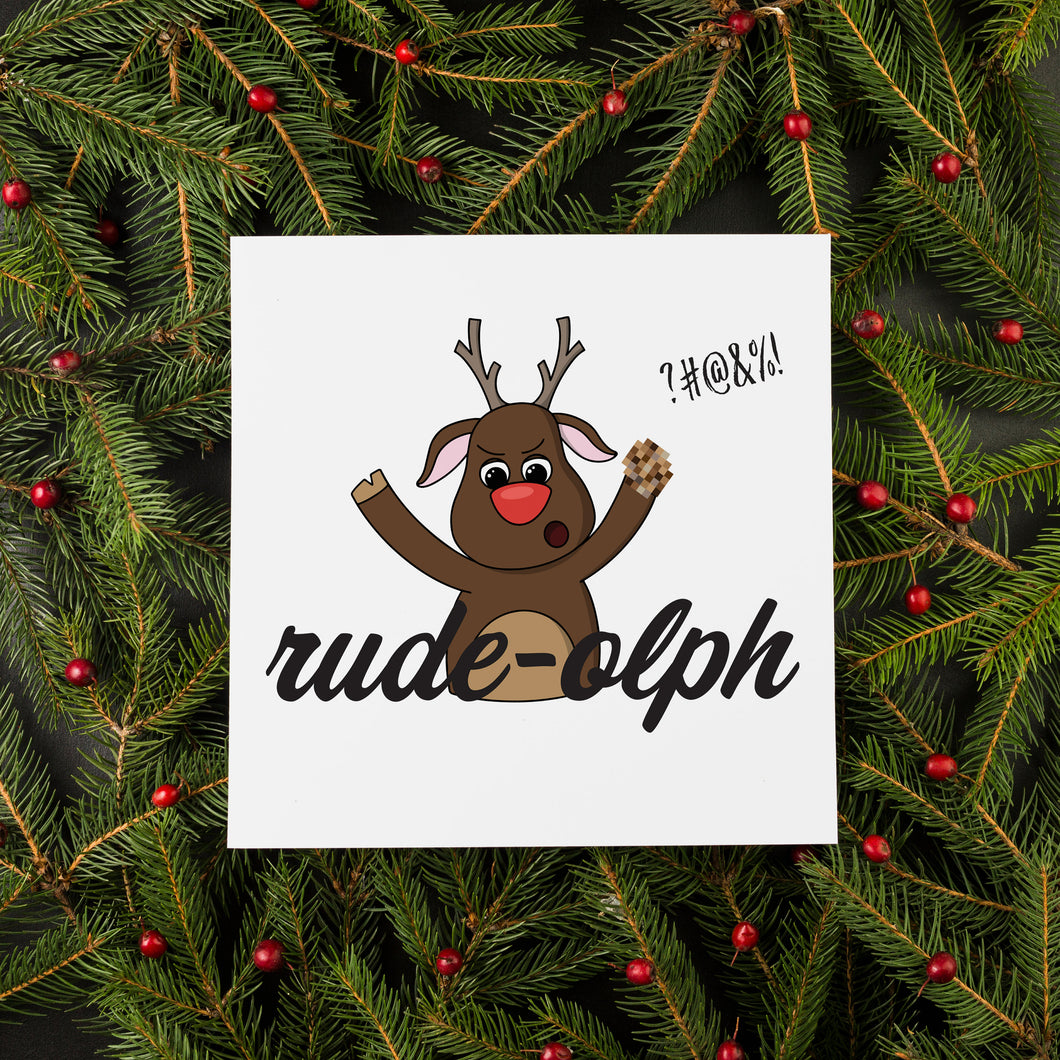 Rude-olph Christmas Card