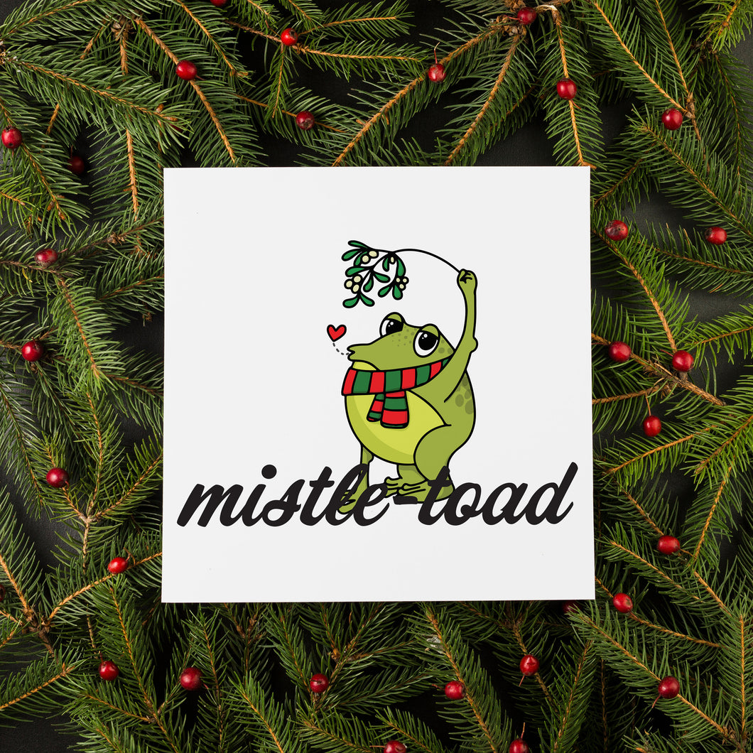 Mistletoe Christmas Card