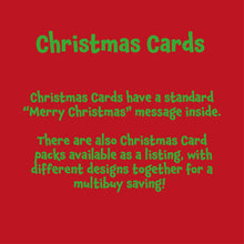 Load image into Gallery viewer, Custom Pack of Christmas Cards
