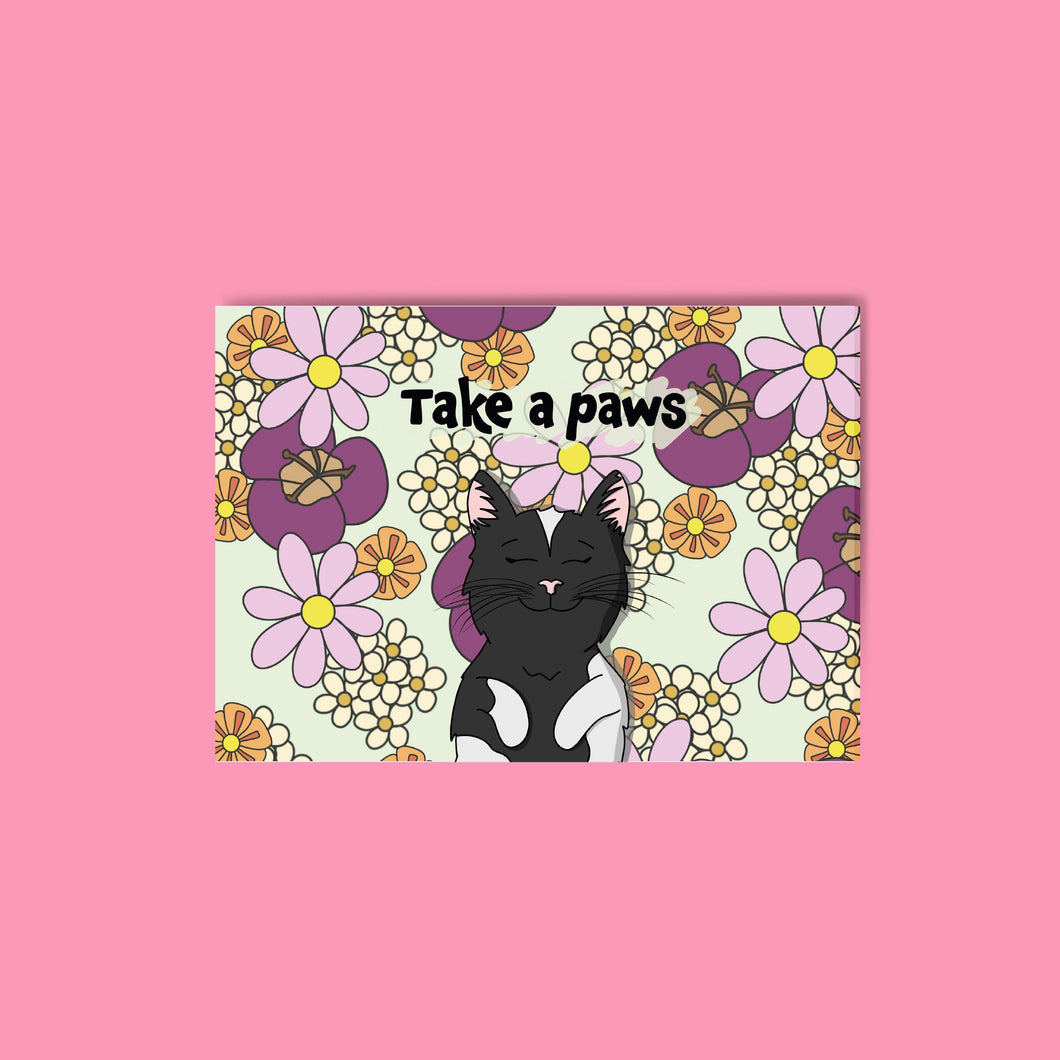 Take a Paws Postcard