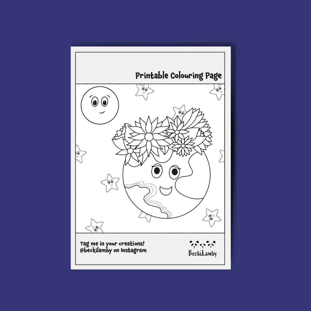 Mother Earth Colouring Page