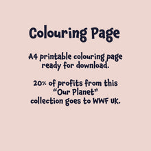 Load image into Gallery viewer, Mother Earth Colouring Page