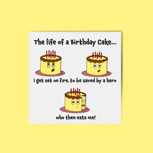 Load image into Gallery viewer, Birthday Cake Card
