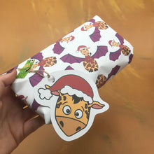 Load image into Gallery viewer, Christmas Giraffe Wrapping Sheet