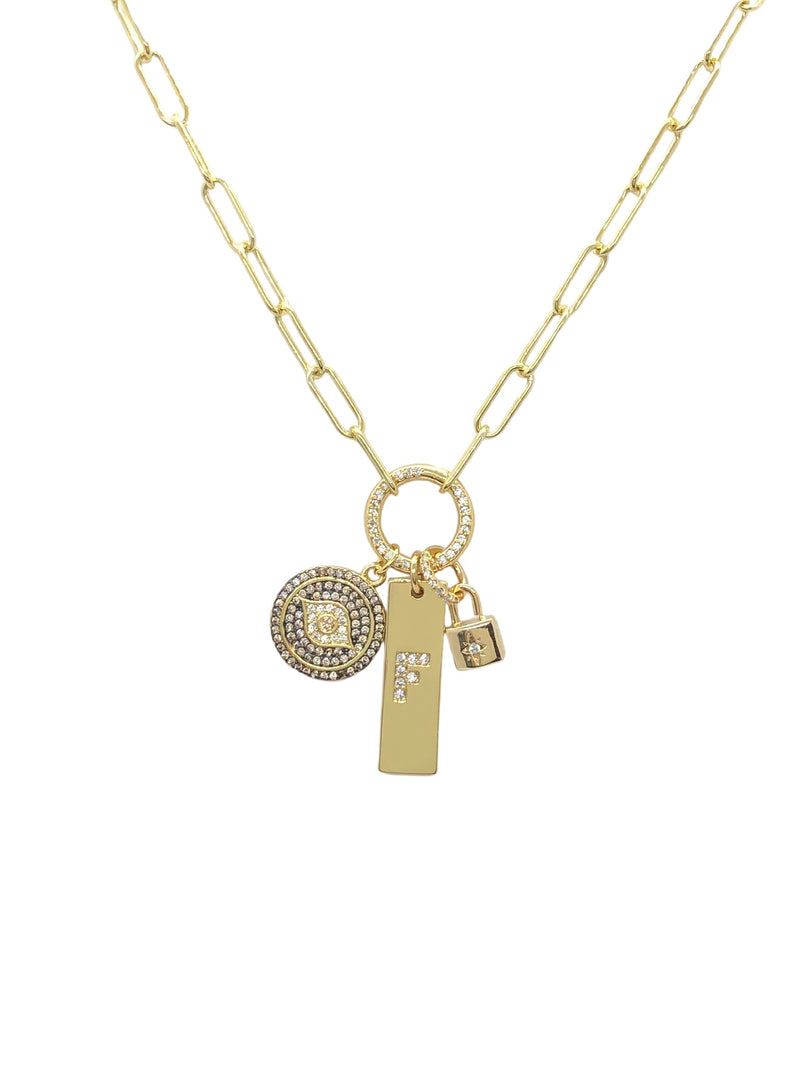 "18"" Vermeil Protection Charms"