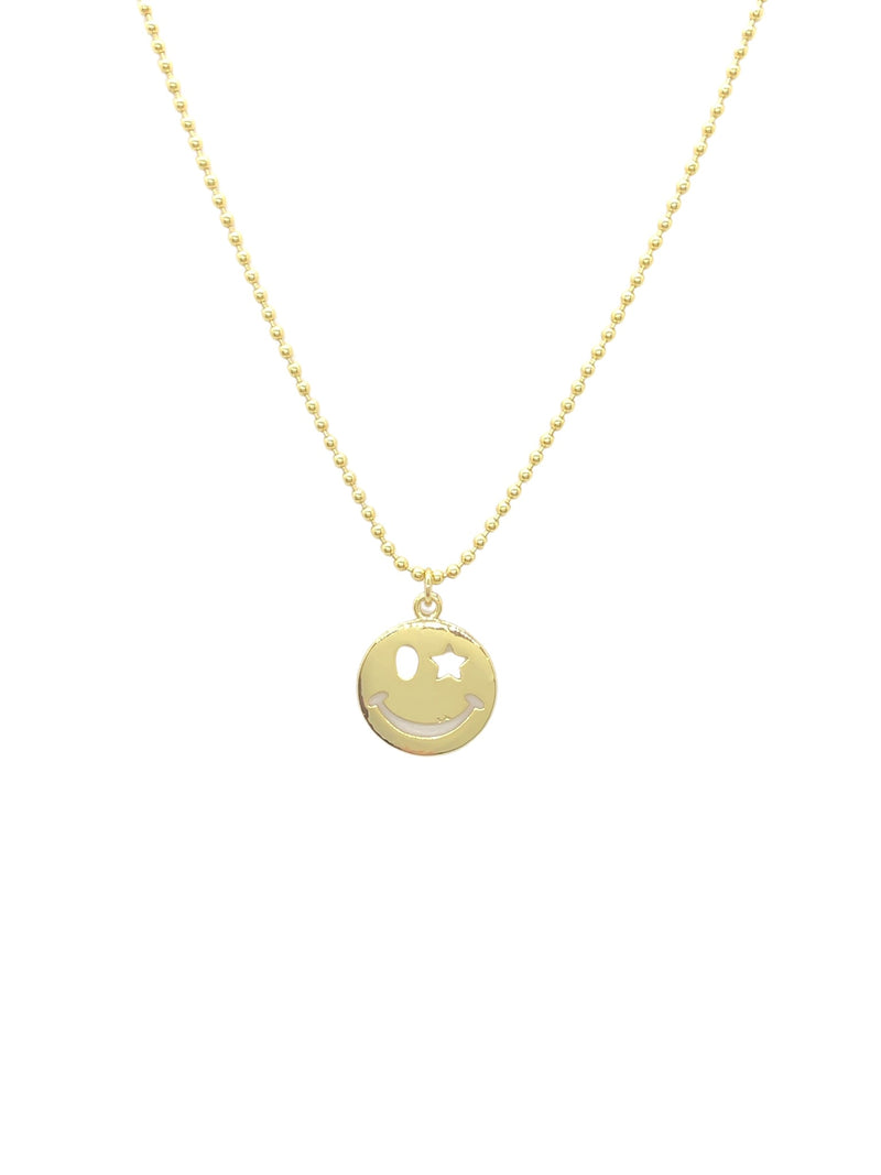 "18"" Ball Chain Happy Face"