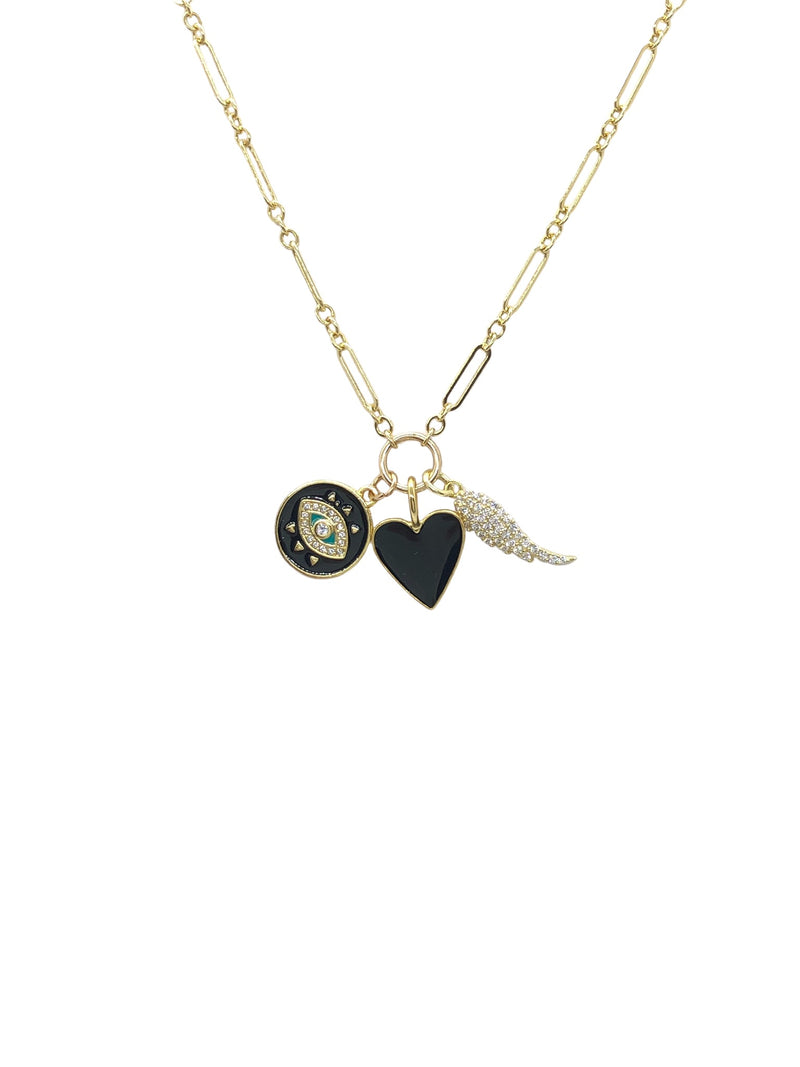 "16"" Gold Filled Love/ Protection CZ / Enamel Charms"
