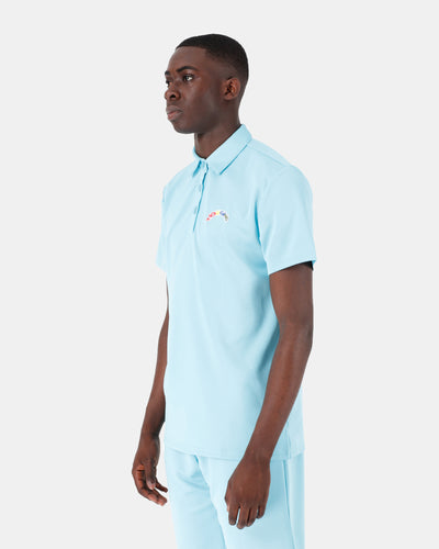 Polo L'ORIGINE Rainbow Soft Blue