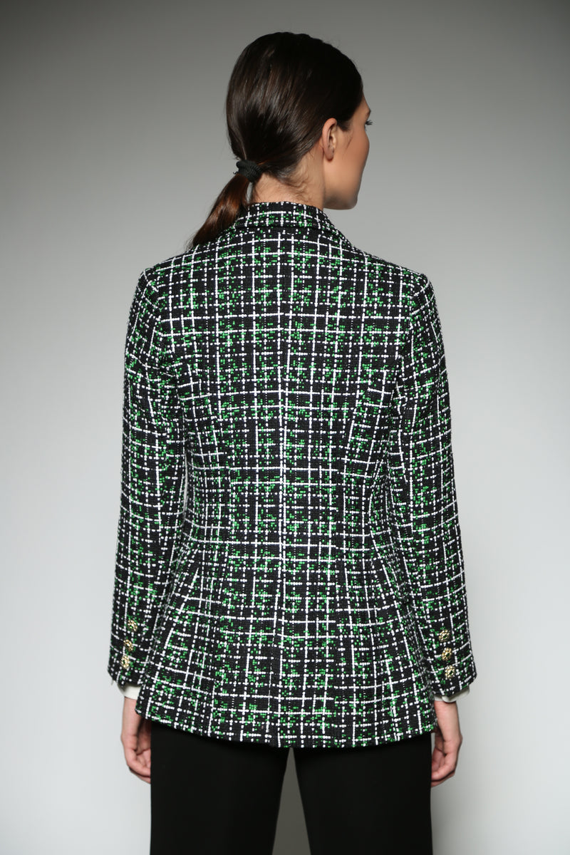 GREEN TWEED TAILORED  JACKET