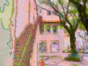 Photo illustration of Mediterranean building in Coral Gables, FL