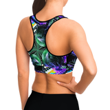DJ Meowzers Kaleidoscope Halter Crop Top (Womens)