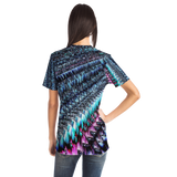 Pink & Blue Sawtooth Sublimation T-Shirt