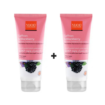 VLCC Saffron & Blackberry Natural Fairness Face Scrub (Buy 1 Get 1 Free)