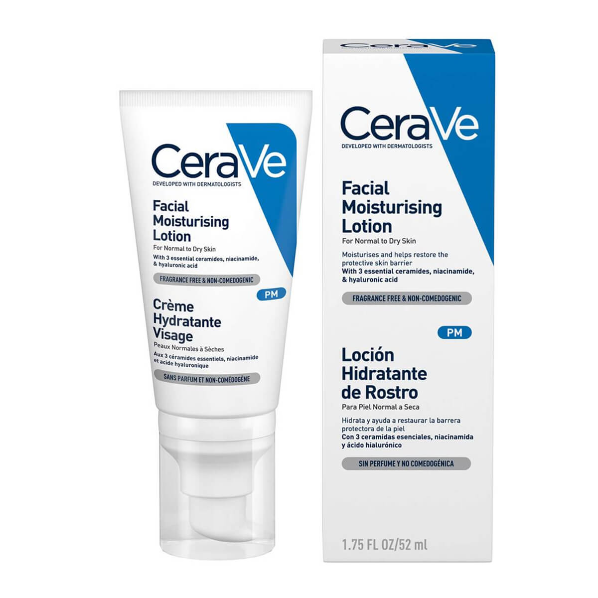 CeraVe PM Facial Moisturising Lotion For Normal to Dry Skin