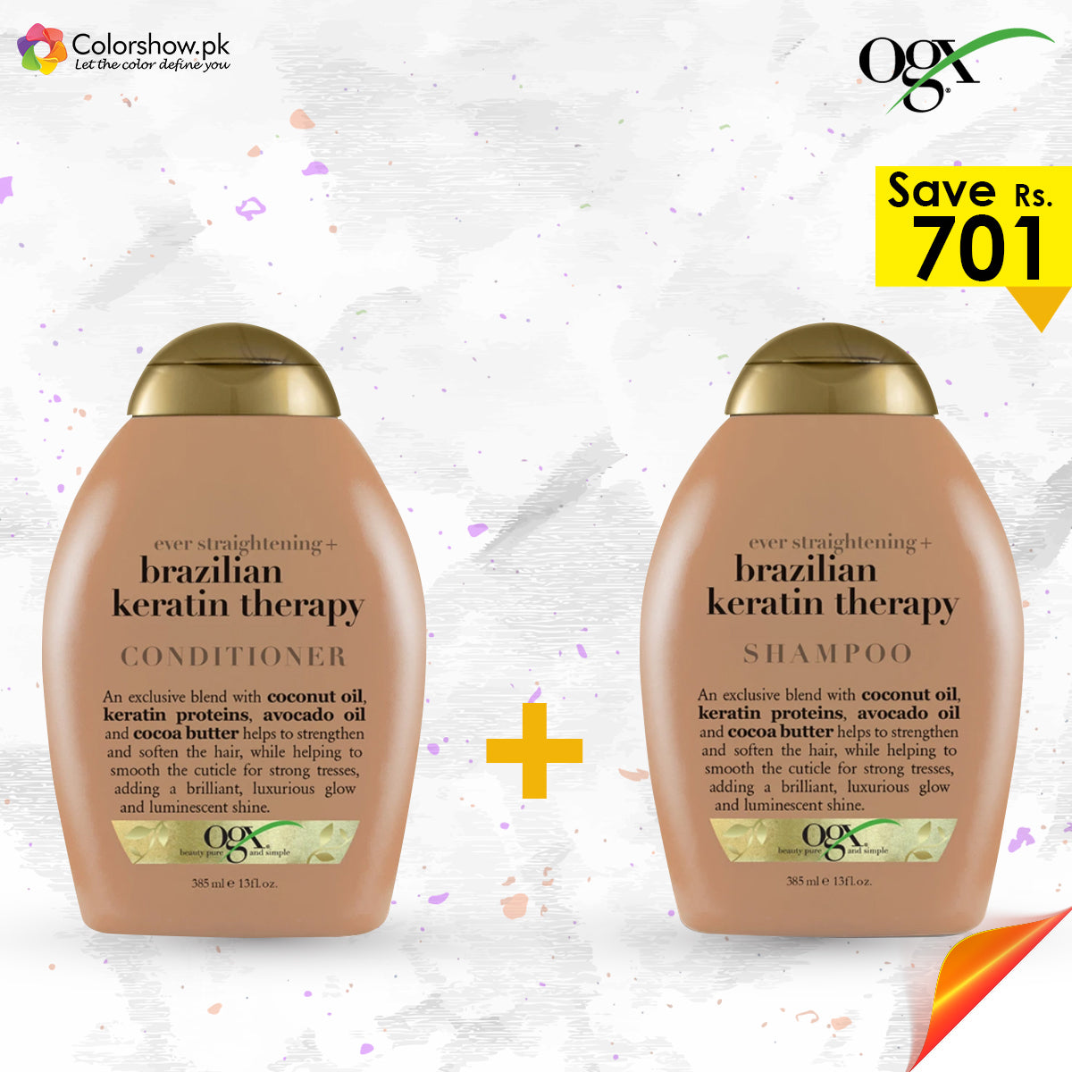 OGX Ever- Straightening BRAZILIAN KERATIN Pack