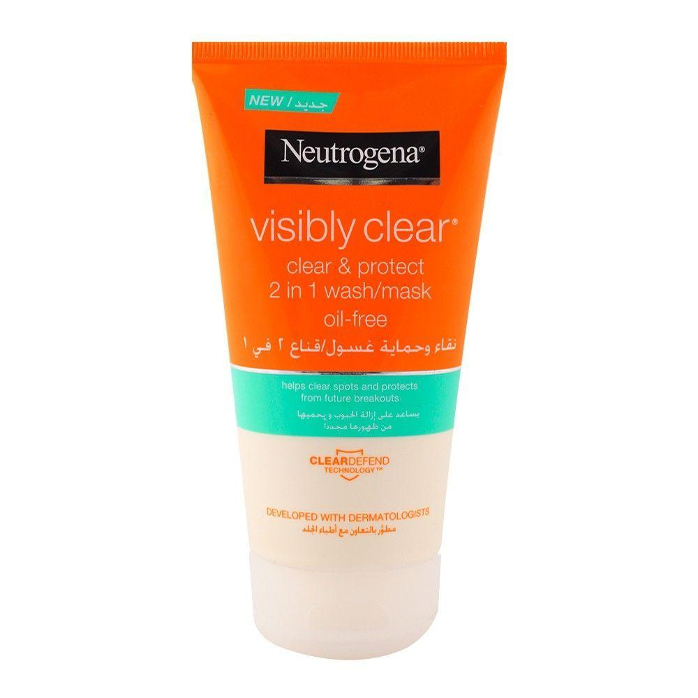Neutrogena Visibly Clear Clear & Protect 2-in-1 Face Wash Mask