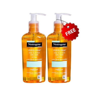 Neutrogena-Buy One Get One Free Visibly Clear, Oil Free Clear & Protect Daily Wash, 200ml