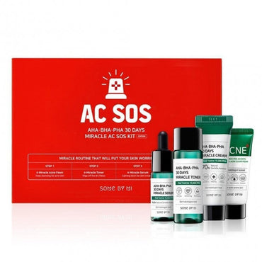 Some By Mi Aha Bha Ph 30 Days Miracle Starter SOS Kit (4items)