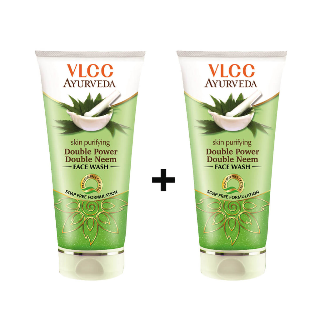 VLCC Double Power Double Neem Skin Purifying Face wash (Buy 1 Get 1 Free)