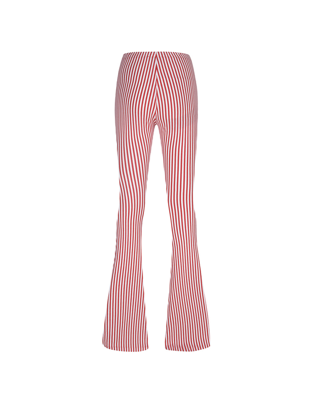 TWIGGY RED STRIPE FLARE