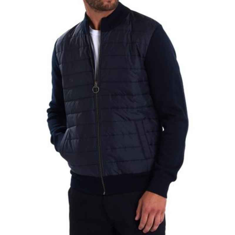 Barbour Carn Baffle Zip Thru Sweater